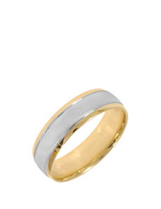 10K Gold 2-Tone Wedding Band