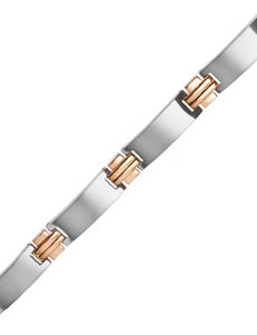 Stainless Steel & Yellow Immersion Plated Link Bracelet – Men's