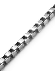 Stainless Steel Box Chain Bracelet – Men's