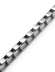 Stainless Steel Box Chain Necklace – Men's