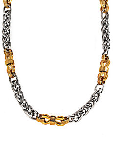 Stainless Steel & Yellow Immersion Plated Necklace – Men's