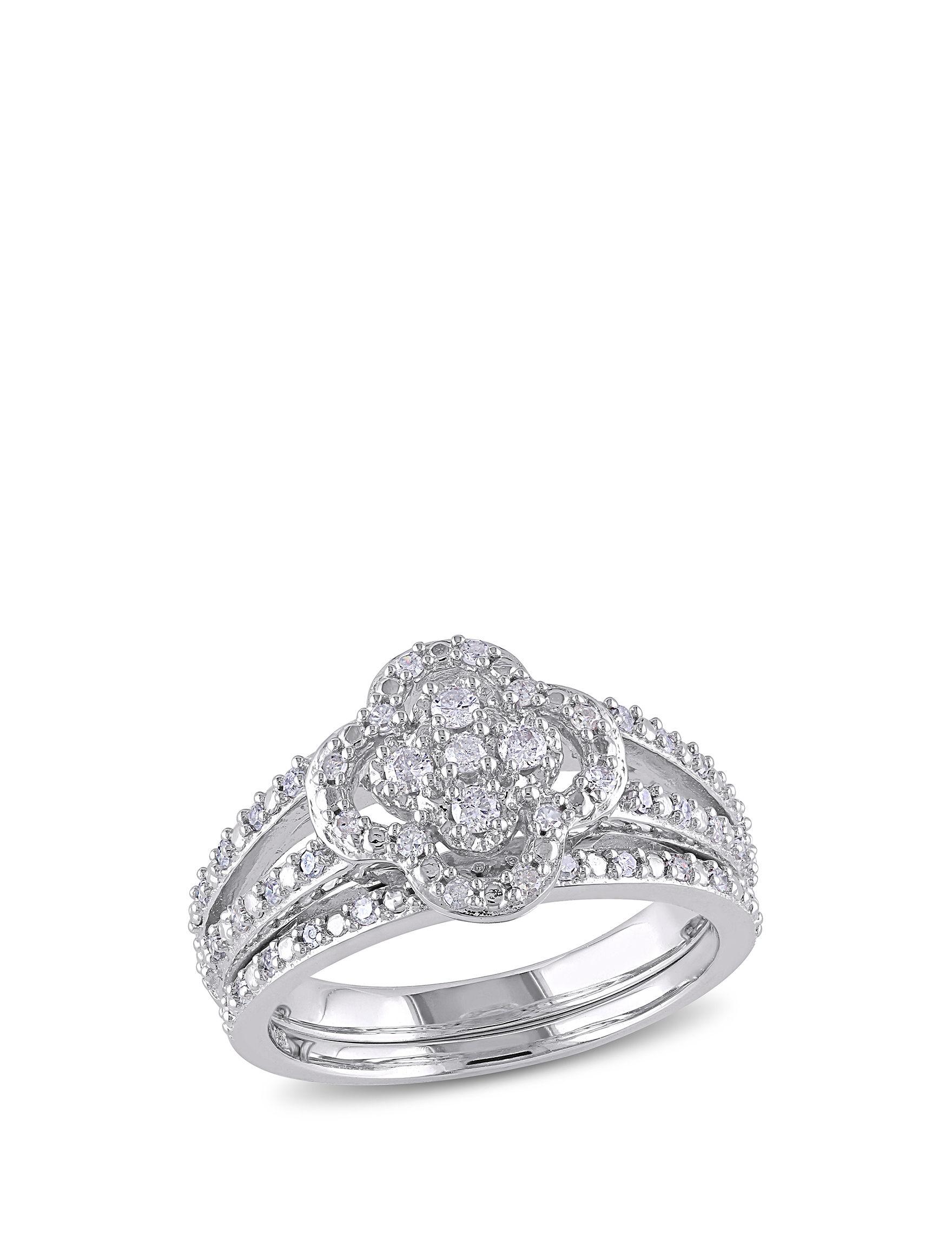 Concerto Diamonds Silver Rings Fine Jewelry