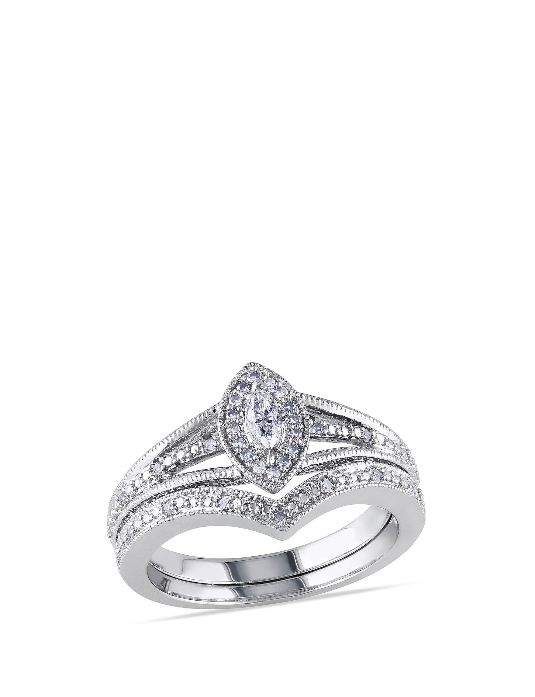 Concerto Diamonds Silver Rings Fine Jewelry