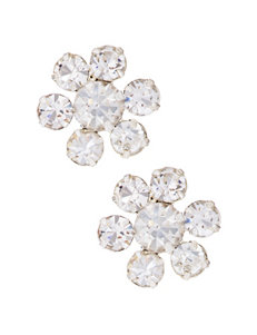 Via Roma Clear Studs Earrings Fashion Jewelry