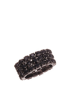 Via Roma Black Rings Fashion Jewelry