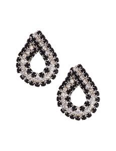 Via Roma Black Drops Earrings Fashion Jewelry