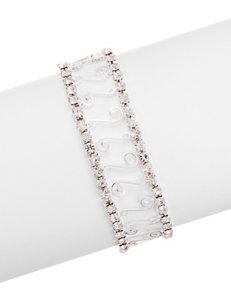 Via Roma Clear Bracelets Fashion Jewelry