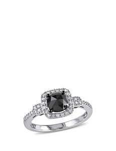 Amour Collection 1 CT. T.W. Black & White Diamond 14K White Gold Ring