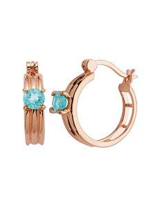 PAJ INC. Rose Gold Hoops Earrings