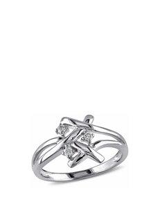 1/10 CT. T.W. Diamond 10K White Gold Three Stone Ring