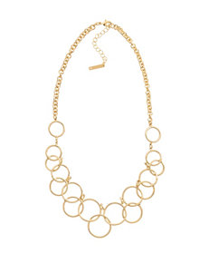 Nine West Interlocked Rings Collar Necklace