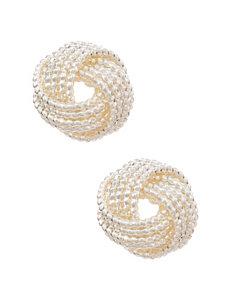 Nine West Textured Knot Stud Earrings