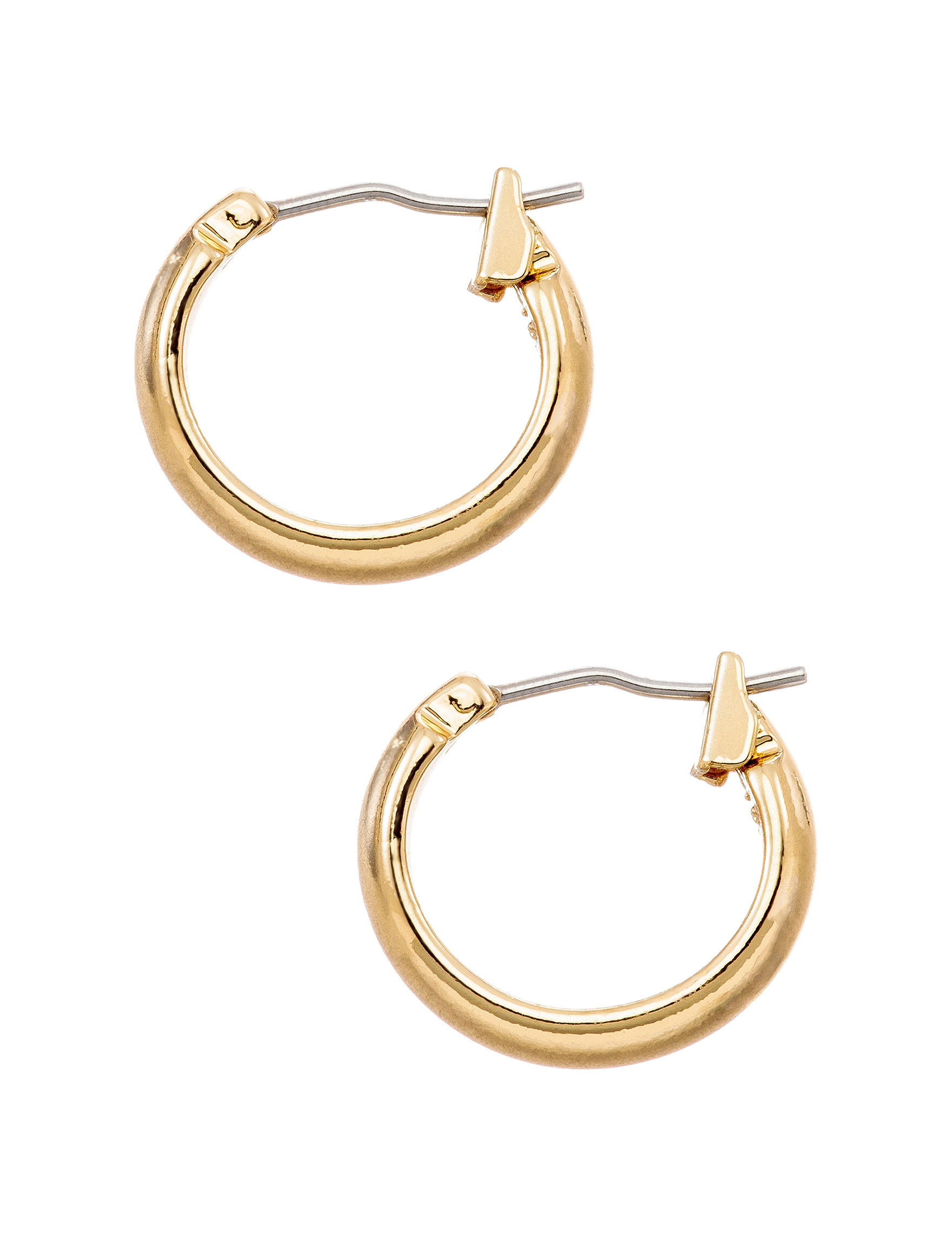 Napier Polished Small Hoop Earrings   Stage Stores