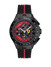 Scuderia Ferrari Men's Red & Black Race Day Tire Tread Silicone Watch