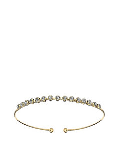 5th & Luxe Multiple Clear Swarovski Crystal 14K Gold Plated Bangle