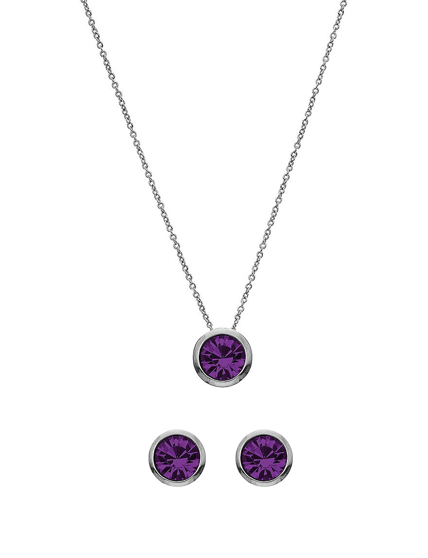 5th luxe 10mm amethyst swarovski silver