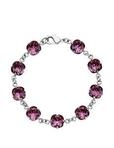 5th & Luxe Antique Pink Swarovski Crystal Bracelet