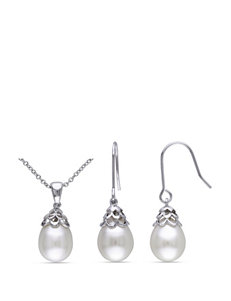 2-pc. Freshwater Pearl Necklace & Earrings Set