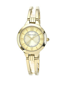 Anne Klein Gold-Tone Open Link Bangle Watch – Ladies