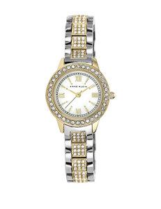 Anne Klein 2-Tone Crystal Accented Bracelet Watch – Ladies
