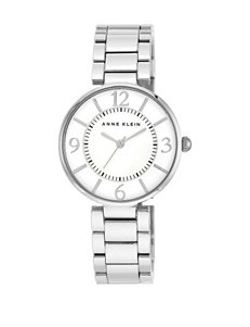 Anne Klein Silver-Tone Bracelet Watch – Ladies