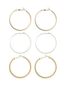 Wishful Park Multi Hoops Earrings Fashion Jewelry