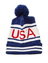 Steve Madden USA Hat with Pom