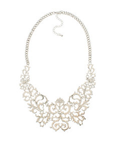 Hannah Silver-Tone Filigree Frontal Necklace