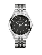 Caravelle New York Men's Black Dial Stainless Steel Watch