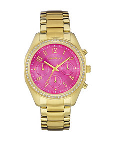 Caravelle New York Ladies Pink Dial Bracelet Watch