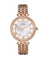 Caravelle New York Ladies Crystal Bezel Bracelet Watch