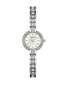 Bulova Ladies Stainless Steel Crystal Bracelet Watch