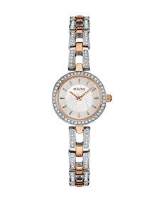 Bulova Ladies 2-Tone Crystal Accent Watch