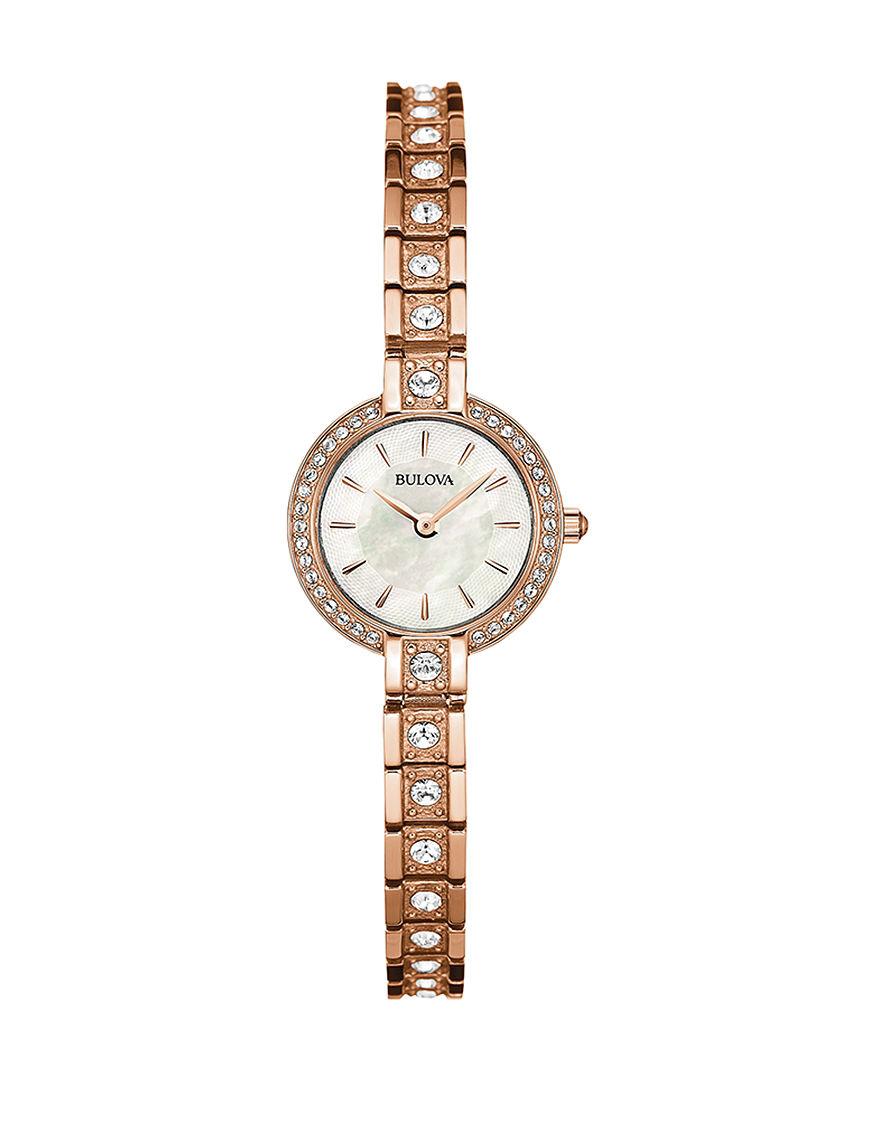 Bulova Rose Gold Fashion Watches Bracelets