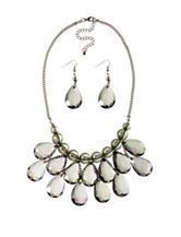 Hannah Hematite-Tone Briolette Necklace & Earrings Set