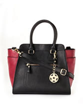 Bueno Color Block Trapezoid Tote Handbag