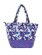 Steve Madden Multicolor Floral Print Brover Quilted Nylon Tote Handbag