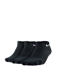 Nike 3-Pair Black Low-Cut Cushioned Socks