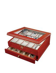 Mele & Co. Chris Locking Wooden Watch Box