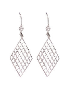 Athra White / Silver Earrings Fine Jewelry