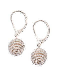 Roman White / Silver Earrings Fashion Jewelry
