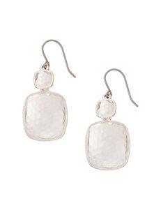 Roman White / Silver Drops Earrings Fashion Jewelry
