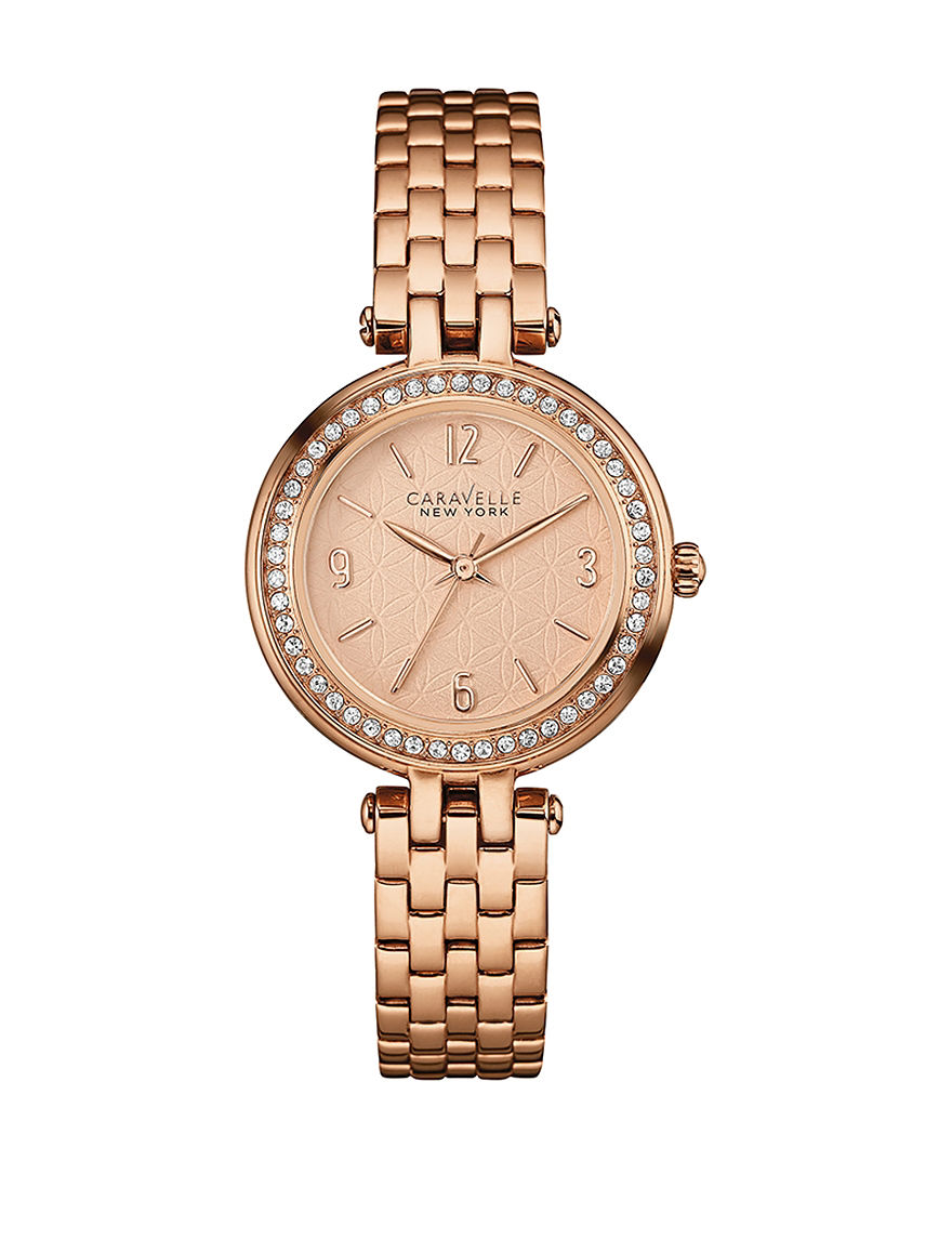 Caravelle Rose Gold Fashion Watches