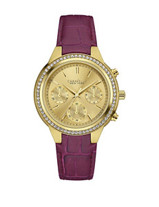 Caravelle New York by Bulova Women's Purple Strap Chronograph Watch