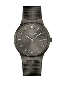Caravelle Dark Grey Fashion Watches
