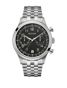 Bulova Men's Silver-Tone Chronograph Watch