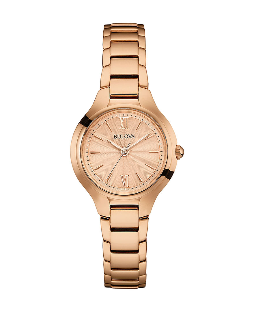 Bulova Rose Gold Fashion Watches