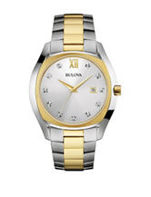 Bulova Men's Diamond Dial 2-Tone Watch