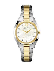Bulova Women's 2-Tone Diamond Dial Watch