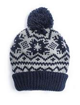 Muk Luks Nordic Snowflake Pom Cuff Cap